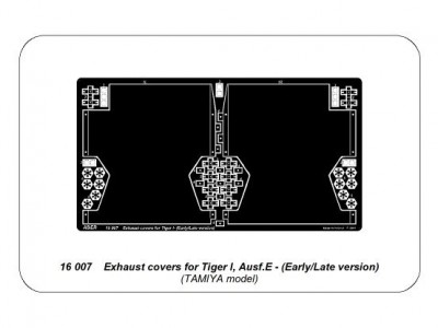 Exhaust covers for Tiger I, Ausf.E - Early/Late version - 4
