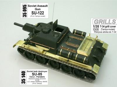 1:35 - Soviet tank destroyer SU122
