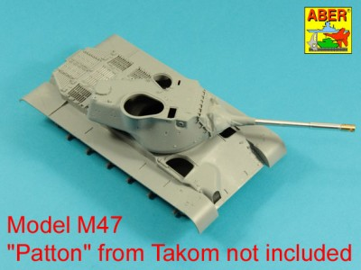 90 mm M-36 tank barrel  cyrindrical Muzzle Brake with mantlet cover for U.S. M47 Patton - 4