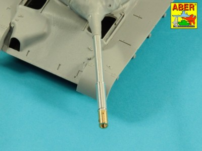 90 mm M-36 tank barrel  cyrindrical Muzzle Brake with mantlet cover for U.S. M47 Patton - 7