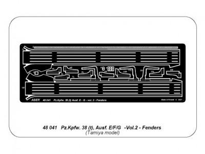 German tank Pz.Kpfw. 38 (t) Ausf.. E/F/G Vol.2-Fenders