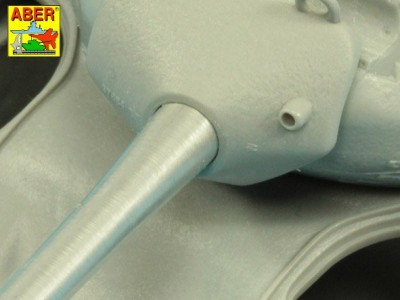 90 mm M-36 tank barrel  cyrindrical Muzzle Brake without mantlet cover for U.S. M47 Patton - 8