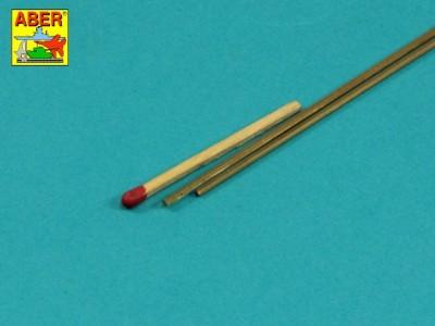 Brass  hexagonal rods 1,5mm length 245mm x2 pcs. - 2
