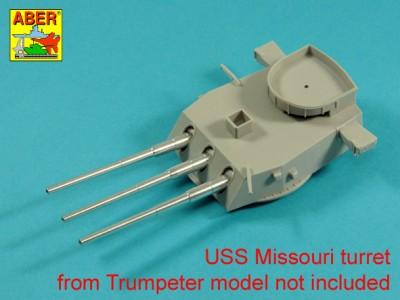 Main Armament for US battleship Iova or Missouri 406mm x9, 127mm x20 - 6