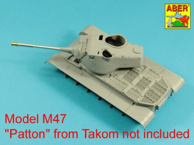 90 mm M-36 tank barrel  cyrindrical Muzzle Brake with mantlet cover for U.S. M47 Patton - 6