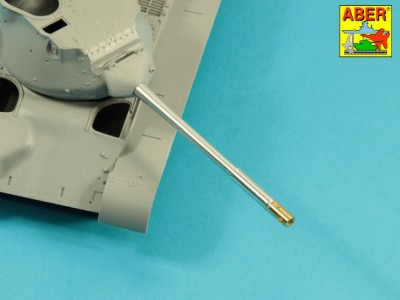 90 mm M-36 tank barrel  cyrindrical Muzzle Brake with mantlet cover for U.S. M47 Patton - 8