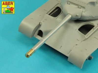 90 mm M-36 tank barrel  cyrindrical Muzzle Brake without mantlet cover for U.S. M47 Patton - 7