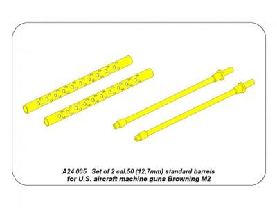 Set of 2  cal .50 (12,7mm) standard barrels for US aircraft machine guns Browning M2