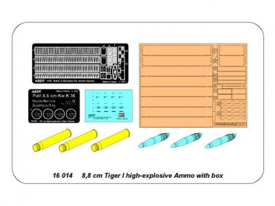 8,8 cm Tiger I high-explosive Ammo with box - 9