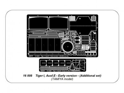 Tiger I, Ausf.E - Early version - Additional set - 4