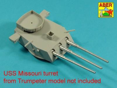 Main Armament for US battleship Iova or Missouri 406mm x9, 127mm x20 - 7