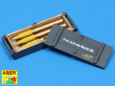 8,8 cm Tiger I high-explosive Ammo with box - 4