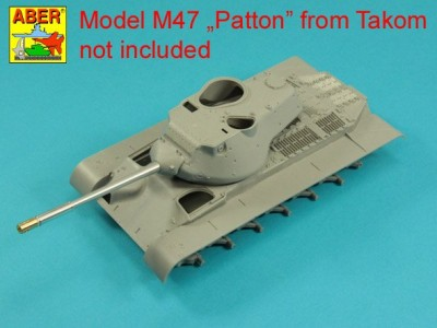 90 mm M-36 tank barrel  cyrindrical Muzzle Brake without mantlet cover for U.S. M47 Patton - 3