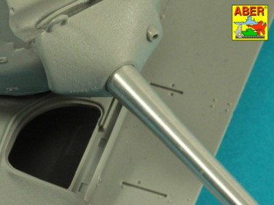 90 mm M-36 tank barrel  cyrindrical Muzzle Brake with mantlet cover for U.S. M47 Patton - 9
