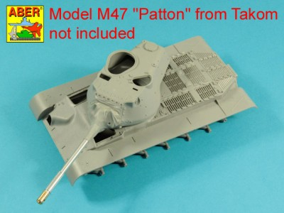 90 mm M-36 tank barrel  cyrindrical Muzzle Brake with mantlet cover for U.S. M47 Patton - 3