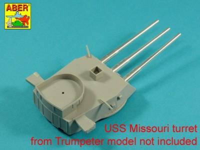 Main Armament for US battleship Iova or Missouri 406mm x9, 127mm x20 - 8