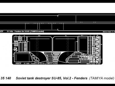 Soviet tank destroyer SU-85 - vol. 2 - additional set - fenders