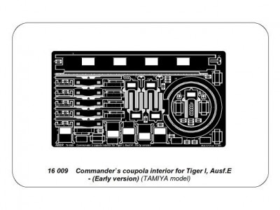 Commander`s coupola interior for Tiger I, Ausf.E - Early version - 4