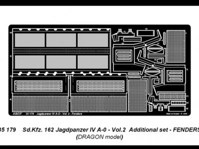 German tank destroyer Sd.Kfz.162 Jagdpanzer IV A-0 - vol. 2 - additional set - fenders