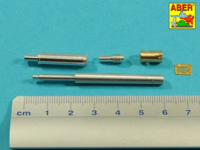 90 mm M-36 tank barrel  cyrindrical Muzzle Brake with mantlet cover for U.S. M47 Patton - 2
