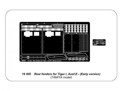 Rear fenders for Tiger I, Ausf.E - Early version - 4