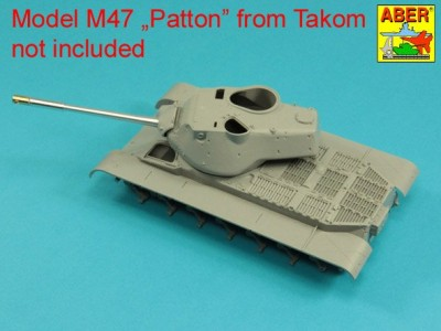 90 mm M-36 tank barrel  cyrindrical Muzzle Brake without mantlet cover for U.S. M47 Patton - 6