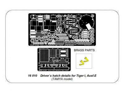 Driver`s hatch details for Tiger I, Ausf.E - 4