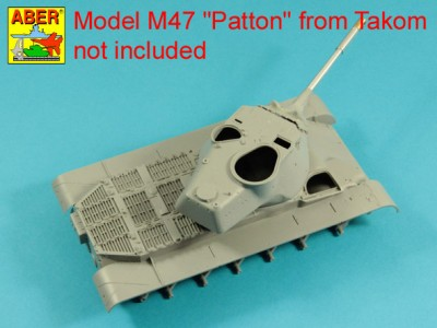 90 mm M-36 tank barrel  cyrindrical Muzzle Brake with mantlet cover for U.S. M47 Patton - 5