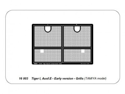 Tiger I, Ausf.E - Early version - Grilles - 4