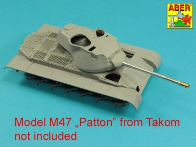 90 mm M-36 tank barrel  cyrindrical Muzzle Brake without mantlet cover for U.S. M47 Patton - 4