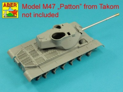 90 mm M-36 tank barrel  cyrindrical Muzzle Brake without mantlet cover for U.S. M47 Patton - 5