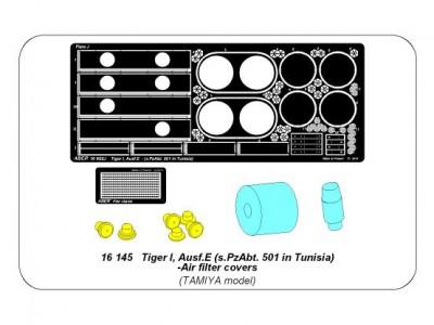 Tiger I, E Tunisia 501 abt.- Air filter covers